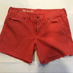 "NWOT Madewell ""The Perfect Jean Shorts"" sz 30"